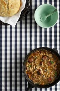 Use commercially available roux for this classic gumbo recipe, or make your own according to the instructions given.(Evans Caglage - Staff Photographer; styling by Jane Jarrell/Special Contributor)