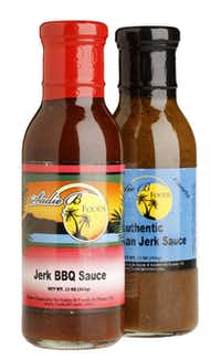 Sadie B Foods Jerk BBQ Sauce - No wonder Sadie B's Jerk BBQ Sauce is its best-seller. It smacks you with the urgent spiciness of Jamaican jerk sauce alongside the sweet tomato base. Look for the Plano company's mango jerk sauce in April. Also coming: Sadie B Foods is collaborating with Mountainman Jerky Co. to make jerk jerky. (Yes, the old double-jerk.)