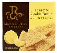 Mother Rucker's Sweets Cookie Brittle - This all-natural cookie is a delectable hybrid: Like shortbread, it's loaded with butter; but texturally, it's altogether different — crunchy, like a crisp cookie. Company co-founder Karel Rucker says that the Lemon Cookie Brittle is especially popular in Texas. It's fantastic spread with goat cheese, and pairs beautifully with a glass of prosecco, dessert wine or a cup of tea. It also makes a good accompaniment to sorbet or ice cream.