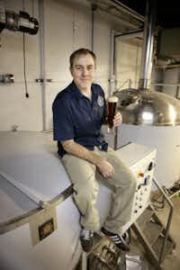 Michael Peticolas of Peticolas Brewing Company, photographed December 8, 2011, at his new brewery in Dallas.
