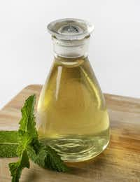 Homemade minty syrup is nothing more than sugar, water and mint.