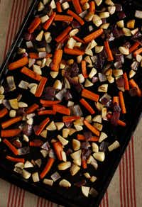 Roasted Vegetables with Sorghum Molasses(Evans Caglage - Staff Photographer)