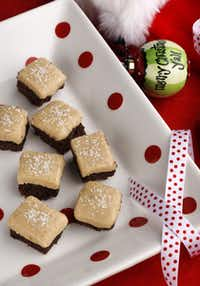 Paula Deen's Salted Caramel Brownies. (Platter and ornament: Bradbury Lane)