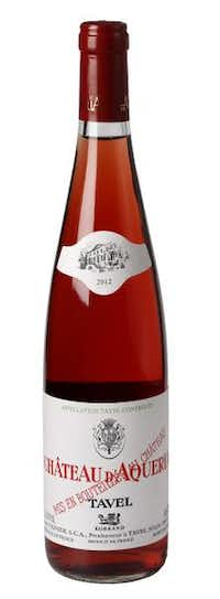 Château d'Aquéria Tavel Rosé, 2012, France. Made from a blend of seven Southern Rhone varieties, this vibrant, fruity rosé is rather full-bodied, especially compared to the other French rosé the panel chose.Evans Caglage  -  Staff Photographer