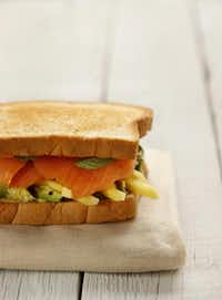 Use pullman bread  or any firm-texture bread  for this brightly colored sandwich.Evans Caglage - food styling by Caroline Wright