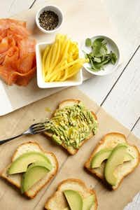 A sandwich that's summer through and through is the Smoked Salmon with Avocado, Green Mango and Basil sandwich, from 'Wichcraft.Evans Caglage - Staff Photographer