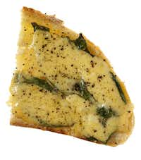 Beemster Premium Dutch Cheese, Basil and Olive Oil on Sourdough Bread from Central Market(Evans Caglage - Staff Photographer)
