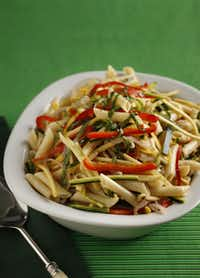Vegan Penne Pasta can be made with almost any vegetable.