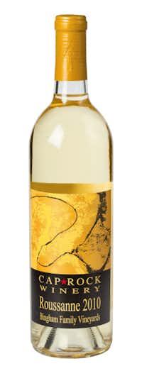Bingham Family Vineyards Cap Rock Winery 2010 Roussane