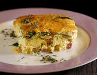 Beck's Baked Frittata is made with meat and side dishes left over from Christmas Eve.( Jae S. Lee  -  Staff Photographer )