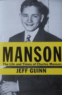 Photo of Fort Worth writer Peter Guinn's national best seller on the biography of Charles Manson.