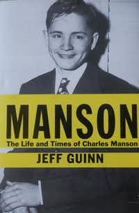 Photo of Fort Worth writer Peter Guinn's national best seller on the biography of Charles Manson.