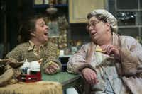 """Maureen Folan (Karen Parrish) shares a laugh with her mother, Meg (Nancy Sherrard), during a scene from """"The Beauty Queen of Leenane."""""""
