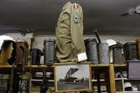 Military memorabilia for sale at the Recon Militaria store that specializes in selling collectible military gear and surplus in Dallas on February 13, 2013.