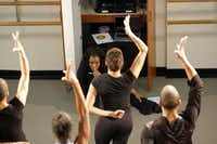 Booker T. Washington High School teacher Bridget L. Moore choreographs a dance rehearsal for an upcoming performance that depicts the life of artist Romare Bearden at the Dallas Black Dance Theatre on February 15, 2013. Moore was selected as the Princess Grace Choreography Fellow in the Fall of 2012 and was commissioned by the Dallas Black Dance Theatre to create new work for the company.