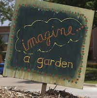 Signs heralding the garden have cropped up at White Rock United Methodist Church.