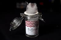 Fluffpops, tiny gourmet cotton candy pops, come in a variety of flavors.