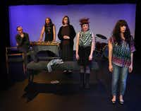 """Upstart Productions' """"I Met You and I Screamed"""" -- with (from left) Mitchell Parrack, Stefan Gonzales, Cindee Mayfield, Cassie Bann and Danielle Georgiou -- is one of the highlights of this year's Festival of Independent Theatres."""