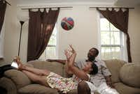 Lonice Bell and Charles Stoker pictured on June 22, 2013 in Duncanville. The couple were high school sweethearts in Desoto's class of 2003 who reconnected eight years later. In high school they spent a lot of time playing basketball and attended the basketball banquet and prom together.