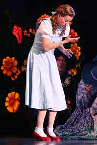 Dorothy (Danielle Wade) performs in opening night of Dallas Summer Musicals The Wizard of Oz at Music Hall at Fair Park in Dallas, Texas, Wednesday, March 19, 2014.(Allison Slomowitz - Special Contributor)