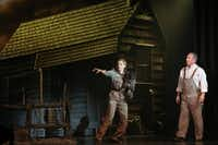 Dorothy (Danielle Wade, left) and Uncle Henry (Larry Herbert, right) perform in opening night of Dallas Summer Musicals The Wizard of Oz at Music Hall at Fair Park in Dallas, Texas, Wednesday, March 19, 2014.Allison Slomowitz - Special Contributor