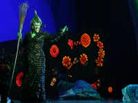 Wicked Witch of the West (Jacquelyn Piro Donovan) (CQ) performs in opening night of Dallas Summer Musicals The Wizard of Oz at Music Hall at Fair Park in Dallas, Texas, Wednesday, March 19, 2014.(Allison Slomowitz - Special Contributor)