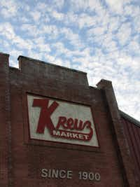 Kreuz Market, 619 N. Colorado St., Lockhart, was the final stop on the BBQ tour.