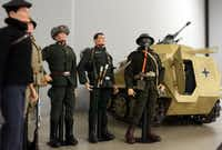 Vintage Hasbro G.I. Joe Soldiers of the World and a German half-track are shown at the Dallas Fort Worth G.I. Joe Collectors Club meeting, held at Frontiers of Flight Museum in Dallas, Texas, Wednesday, November 3, 2012.