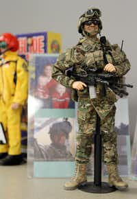 Army 1st Lt. Robert F. Welch III is memorialized in the form of a G.I. Joe. Dallas Fort Worth G.I. Joe Collectors Club member, Bob Welch created the figure, shown at a meeting held at Frontiers of Flight Museum in Dallas, Texas, Wednesday, November 3, 2012.