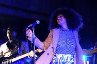 Solange performed at The Hive during the 2013 edition of the 35 Denton music festival. (Alexandra Olivia/Special Contributor)
