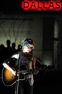 Local Dallas musician Madison King played a late-night set at the annual Spring Block Party in the Dallas Arts District.Alexandra Olivia - Special Contributor