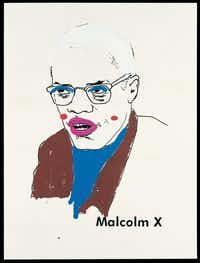 The Modern Art Museum of Fort Worth unveiled two of the better shows of 2012, with the best being its Glenn Ligon exhibition. Pictured: Malcolm X (Version 1) #1, 2000Collection of Michael and Lise Evans