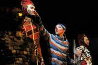 """The Innocent, Stephan Landry, brings the Charivari house troupe to life in the opening segment of Cirque du Soleil's """"Kooza"""" on Wednesday, Sept. 19, 2012 in Dallas."""