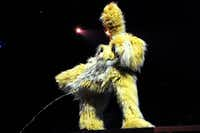 """The Bad Dog lived up to his name on the opening night of Cirque du Soleil's """"Kooza"""" on Wednesday, Sept. 19, 2012 in Dallas."""