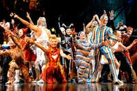 "The big finale on the opening night of Cirque du Soleil's ""Kooza"" on Wednesday, Sept. 19, 2012 in Dallas."