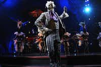 """The Skeleton Dance on the opening night of Cirque du Soleil's """"Kooza"""" on Wednesday, Sept. 19, 2012 in Dallas."""