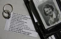 The couple's original wedding bands as well as a poem Bill wrote to Barbara are pictured next to a portrait that Bill has carried in his wallet for decades.Steve Hamm  -  Special Contributor