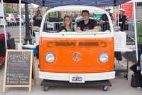 The front-end of a faux Volkswagen bus is familiar to fans of Pop-Star popsicles, sold by Jen Yates and John Doumas. Flavors include Texas blueberry, made of local ingredients.File 2013 - Special Contributor