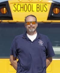 School bus driver John Yoder, who has been driving for 16 years with Allen ISD, began roadeo competitions in 2012. He finished 14th at nationals.( Staff photo by VERNON BRYANT   - DMN)