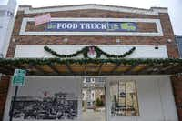 The 507 State Street building  in downtown Garland is now an eating area that hosts food trucks and events.(Staff photo by ROSE BACA - DMN)