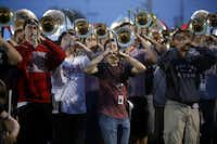 The Allen High School marching band has been preparing for its trip to the Rose Bowl by holding fundraisers as well as preparing the music to play at the parade.(Photo by ANJA SCHLEIN - special contributor)
