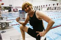 Shelly Whitlock was active in sports, including participating in a swimming event in 2011. After her days as a referee, she competed in Senior Games.(Courtesy of Whitlock family - Staff Photographer)