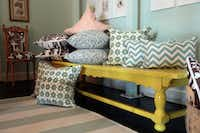 There's plenty of pillows in retailer Stella Dallas' room. The pillows are priced from $40.