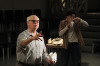 Kieran Michael Connolly (left) as Mark Rothko and Jordan Brodess, right, as Ken