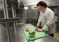 Nancy Maslonka, executive chef of Medical City Dallas Hospital and Medical City Children's Hospital, prepares a nutrient-rich broccoli dish called Sesame Roasted Broccoli.Kye R. Lee - Staff Photographer
