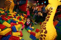Sofia San Juan, 5, plays with life-size Legos at the Duplo Village inside the LegoLand Discovery Center, on Oct. 07, 2012 at Grapevine Mills Mall in Grapevine. Ben Torres/Special Contributor 10192012xGUIDE