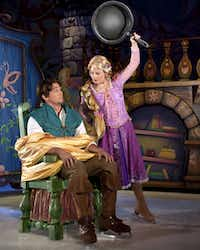 __ Caption: DISNEY ON ICE PRESENTS DARE TO DREAM Rapunzel, Tiana and Cinderella don their skates for this new live production that will showcase scenes from Tangled, The Prince and the Frog and Cinderella from March 28-April 1, 2012 at American Airlines Center in Dallas. Seen here is Rapunzel and Flynn. Email: esackett@dallasnews.com Phone: 940-395-1300 Byline: Disney on Ice Submitter: Ellen Sackett Timestamp: 2012-02-07 14:18:05 Section: GUIDE_NG