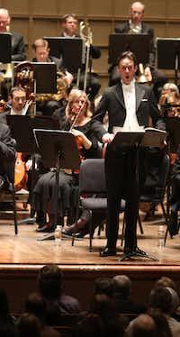 British tenor Ian Bostridge sings during Benjamin Britten's War Requiem on Thursday.