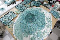 A mosaic in progress by mosaic artist Sonia King at her home studio in Dallas on May 8, 2013. This mosaic will be on display at the Children's Medical Center Center for Cancer and Blood Disorders in Dallas. One of King's mosaics was recently accepted into the Museo d'Arte di Ravenna's permanent collection of contemporary mosaics in Ravenna, Italy.