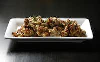 Chef Kent Rathbun's smoked chicken stuffing.